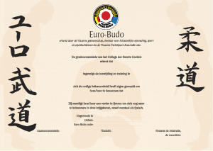 Diploma Euro Budo