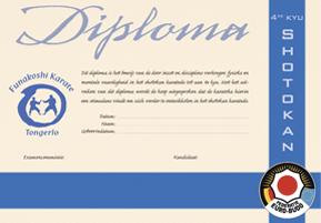 diploma funakoshi karate tongerlo
